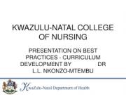 KwaZulu – Natal College of Nursing